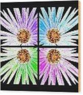 Vexel Flower Collage Wood Print