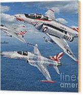 Vf-111 Sundowners Heritage Wood Print by Stu Shepherd