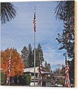 Vfw Hall Veterans Day Wood Print