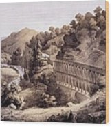 Viaduct On Cheat River, From Album Wood Print