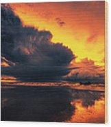 Vibrant Dawn Wood Print by Mark Leader