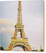 Vibrant Eiffel Tower Wood Print