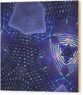 Vibrant Shades Of Blue 7 Wood Print