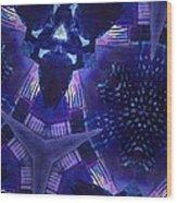 Vibrant Shades Of Blue 9 Wood Print