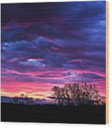 Vibrant Sunrise Wood Print by Tim Buisman
