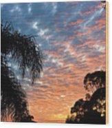 Vibrant Winter Sunset Wood Print