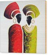 Vibrant Zulu Ladies - Original Artwork Wood Print
