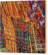 Vibrations Digital Guitar Art Bt Steven Langston Wood Print