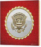 Vice Presidential Service Badge Wood Print