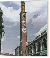 Vicenza Clock Tower Wood Print