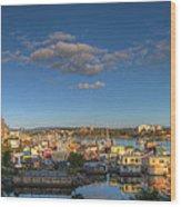 Victoria Bc Fisherman's Wharf Wood Print