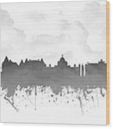 Victoria British Columbia Skyline - Gray 03 Wood Print