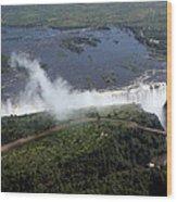 Victoria Falls  Wood Print
