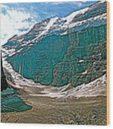 Victoria Glacier From Plain Of Six Glaciers In Banff Np-alberta Wood Print