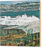 Victoria Glacier From Plain Of Six Glaciers Trail In Banff Np-ab Wood Print