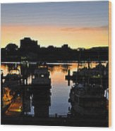 Victoria Harbor Sunset 3 Wood Print