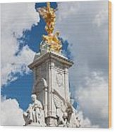 Victoria Memorial Next To Buckingham Palace London Uk Wood Print