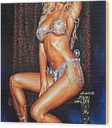 Victoria Silvstedt Wood Print