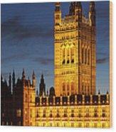 Victoria Tower - London Wood Print