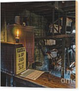 Victorian Candle Factory Wood Print