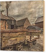Victorian Colliery Wood Print by Adrian Evans