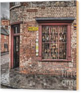 Victorian Corner Shop Wood Print by Adrian Evans