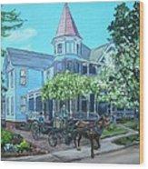 Victorian Greenville Wood Print