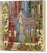 Victorian Home Dream Wood Print