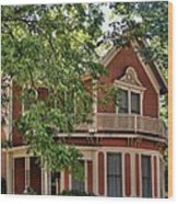 Victorian Home Of Georgetown Texas Wood Print