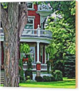 Victorian Home Painted Version Wood Print