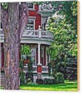 Victorian Home Wood Print