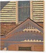 Victorian House Detail Wood Print