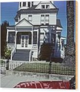 Victorian House In San Francisco Wood Print