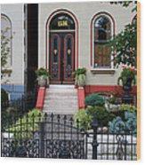 Victorian House Lafayette Sq St Louis Wood Print