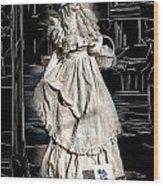 Victorian Lady Wood Print by John Haldane