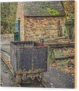 Victorian Mining Cart Wood Print