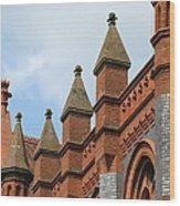 Victorian Orange Wood Print