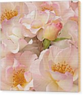 Victorian Pink Roses Bouquet Wood Print