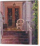 Victorian Rocking Chair Wood Print