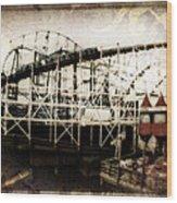 Victorian Roller Coaster Wood Print