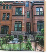 Victorian Row Home  Wood Print
