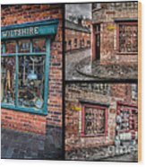 Victorian Shops Wood Print by Adrian Evans