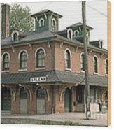 Victorian Train Station Galena Illinois Wood Print