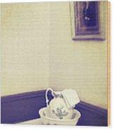 Victorian Wash Basin And Jug Wood Print by Amanda Elwell