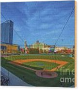 Victory Field Home Plate Wood Print