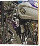 Victory Motorcycle Engine Wood Print