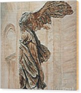 Victory Of Samothrace Wood Print by Joey Agbayani