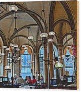 Vienna Central Cafe Wood Print by Viacheslav Savitskiy