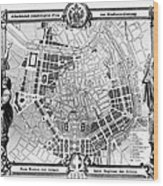 Vienna: Plan, 1860 Wood Print