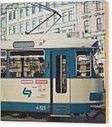 Vienna Tram Wood Print